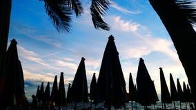 Пляж зонтика Стоковое Изображение