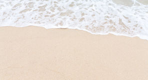 Пляж и волна песка Стоковое фото RF