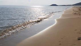 Пляж и волна песка видеоматериал