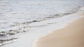 Пляж и волна песка сток-видео