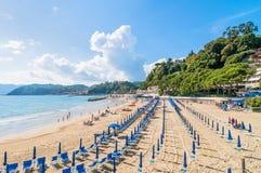 Пляж и городок Lerici, Италии Стоковые Фотографии RF