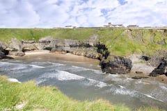 Пляж и монастырь монашек Стоковые Изображения