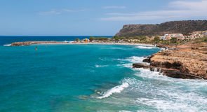 Пляж и море в Крите стоковое фото