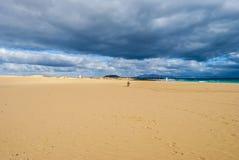 Пляж и небо Стоковое Изображение RF