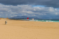 Пляж и небо Стоковое Фото
