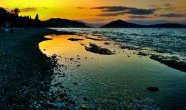 Пляж и небо Стоковые Изображения