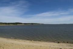 Пляж и озеро Midwest Стоковое фото RF