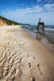 Пляж и побережье Балтийского моря в Польше Стоковая Фотография RF