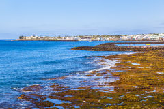 Пляж и село Blanca Playa Стоковые Фотографии RF
