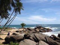 Пляж и утесы Стоковая Фотография
