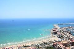 Пляж и шлюпки Стоковые Фотографии RF