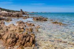 Пляж камня Сардинии Стоковые Фото