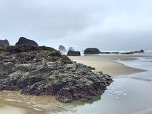 Пляж карамболя, Орегон Стоковая Фотография
