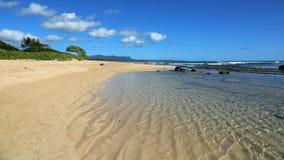 Пляж Кауаи Стоковое Изображение