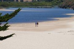 Пляж Калифорния Carmel, Соединенные Штаты стоковое фото rf