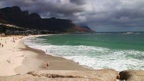 Пляж Кейптауна сток-видео
