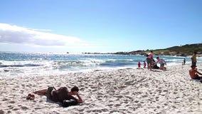 Пляж Кейптауна акции видеоматериалы