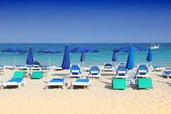 Пляж Кипра Стоковые Изображения RF