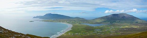 Пляж киля, остров Achill, Ирландия стоковые изображения