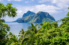 Пляж 7 командосов, El, Nido, Palawan, Филиппины Стоковые Фотографии RF