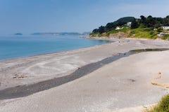 Пляж Корнуолл Англия Seaton, Великобритания Стоковое фото RF