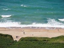 Пляж Корнуолла в лете стоковые изображения