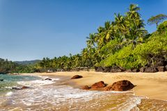 Пляж колы, южное Goa, Индия Стоковое фото RF