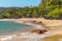 Пляж колы, южное Goa, Индия Стоковая Фотография