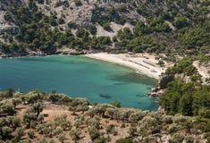 пляж красивейшая Греция стоковая фотография rf