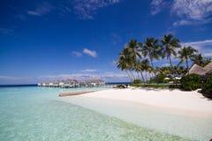 пляж красивейшие Мальдивы Стоковое Изображение RF