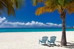 пляж красивейший caribbean Стоковая Фотография