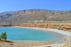 Пляж Крит Греция пустыни Стоковая Фотография