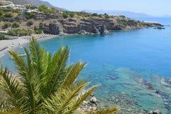 Пляж Крит Греция Galini Стоковая Фотография RF