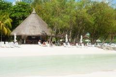 Пляж курорта, Маврикий Стоковые Фотографии RF