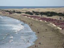 Пляж курорта Стоковое Изображение