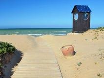пляж к путю Стоковое Изображение