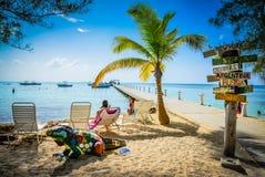 Пляж клуба пункта рома - Grand Cayman Стоковое фото RF