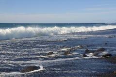 Пляж Лансароте стоковая фотография rf