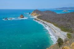 Пляж Лос Frailes, национальный парк Machalilla, эквадор стоковые изображения