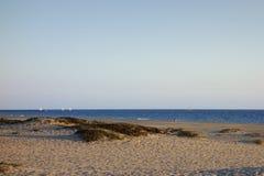 Пляж Мандалая в вечере, Oxnard, CA Стоковое Изображение RF