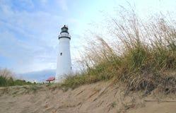 Пляж маяка Стоковые Фотографии RF