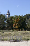 Пляж маяка, Evanston Стоковые Фотографии RF