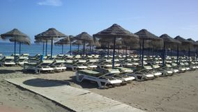 Пляж Малага Испания Стоковая Фотография RF