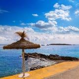 Пляж Мальорка Calvia Майорки Playa de Illetas Стоковые Фотографии RF