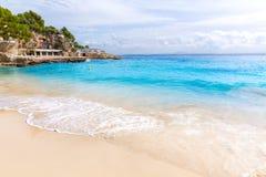 Пляж Мальорка Calvia Майорки Playa de Illetas стоковое фото rf