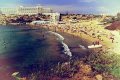 Пляж Мальты, год сбора винограда Стоковое фото RF