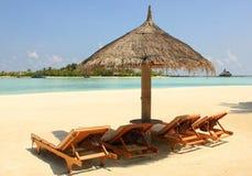 Пляж Мальдивов Стоковые Изображения RF