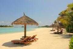Пляж Мальдивов Стоковая Фотография RF