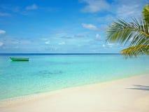 Пляж Мальдивов Стоковая Фотография
