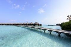 Пляж Мальдивов Стоковое Изображение